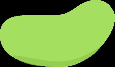 Green jelly bean clip art image