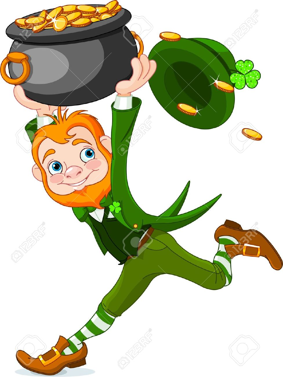 green leprechaun cute