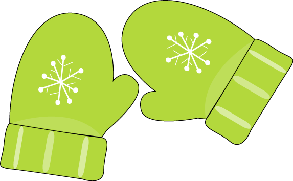 Green Mittens Clip Art Pair Of Green Mittens With A Snowflake