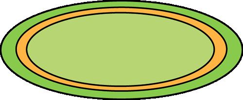Green Oval Rug Clip Art