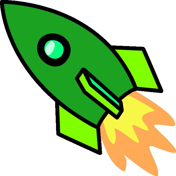 Green Rocket clip art - vector clip art online, royalty free