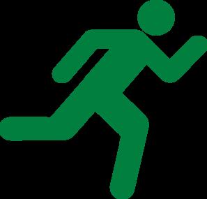 Green Runner Clip Clip Art