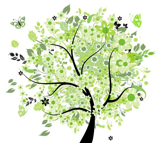 Green Spring Tree PNG Clipart Picture