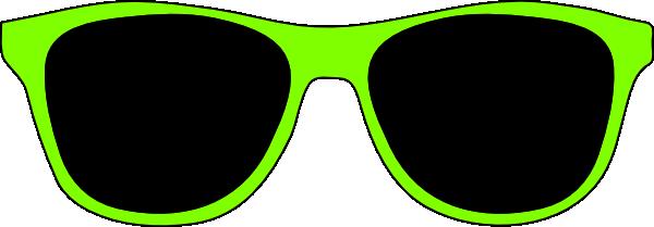 Green sunglasses clip art at clker com vector clip art
