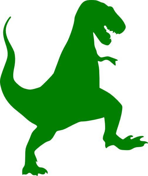 Green T-rex Silhouette clip art - vector clip art online, royalty .