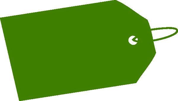 Green Tag Inverse Side Clip Art