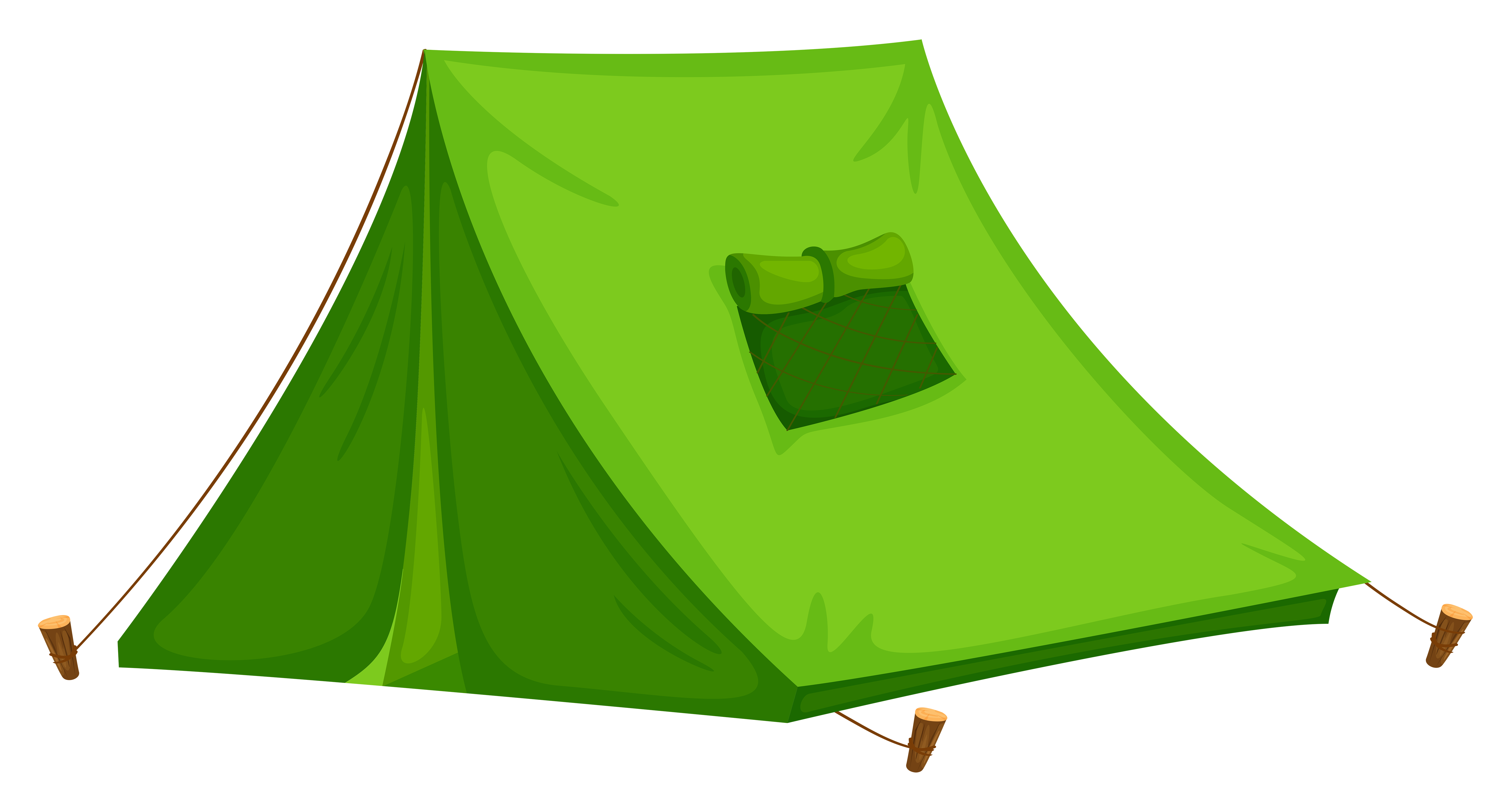Green Tent PNG Clipart Picture