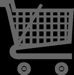 Grey Shopping Cart Clip Art