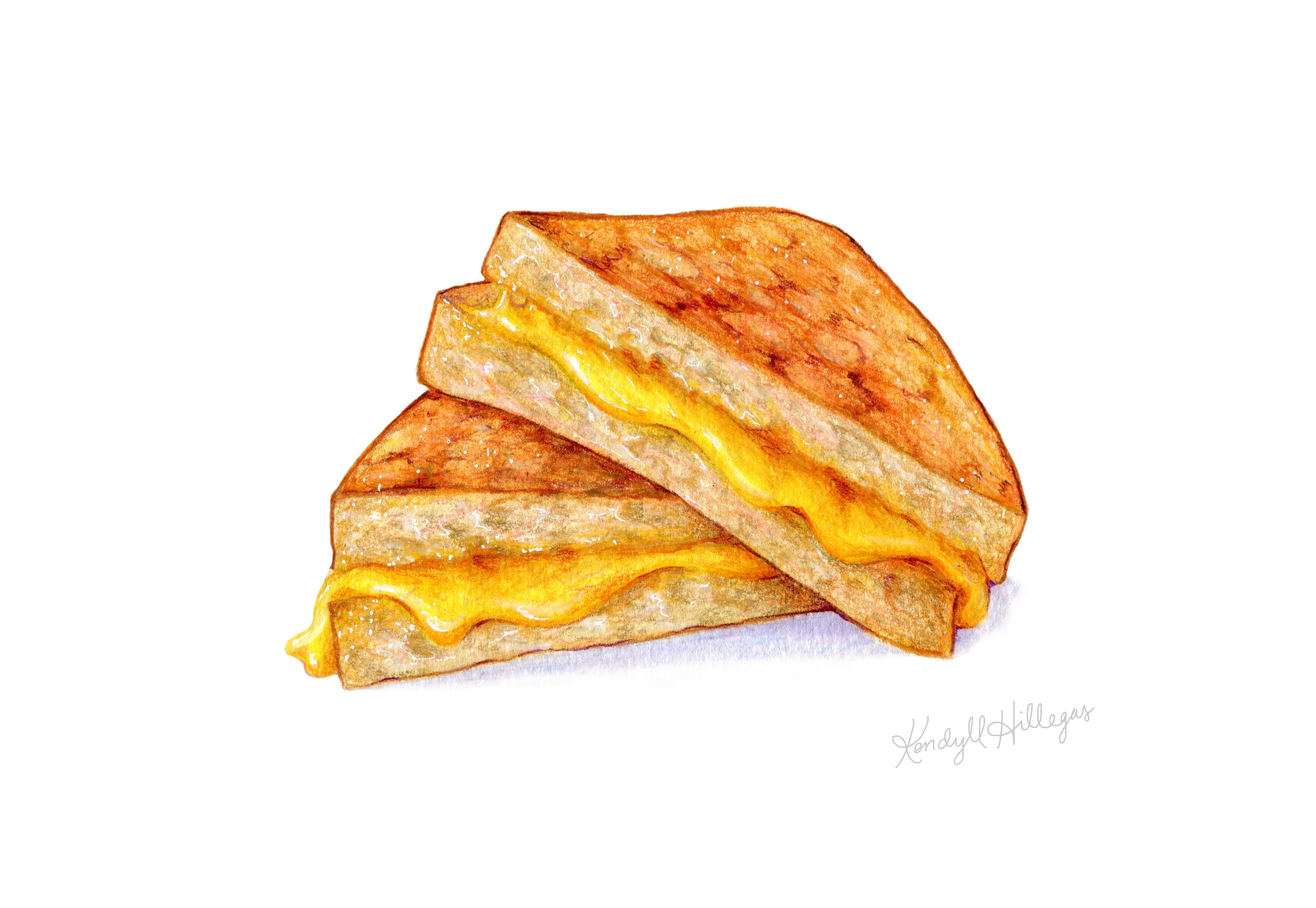 Grilled Cheese Flu Shot Clipart Chadholtz
