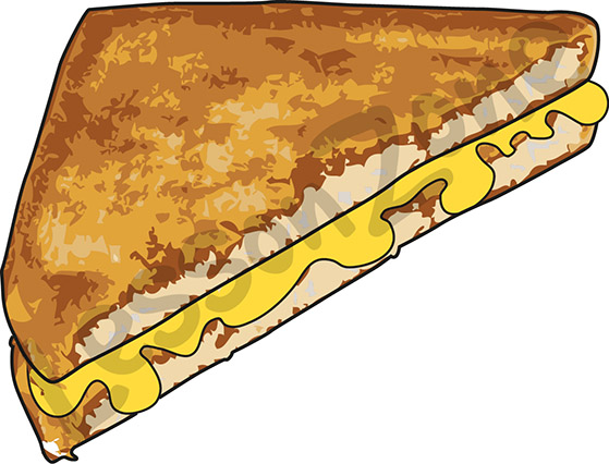 Grilled cheese sandwich clipart free images
