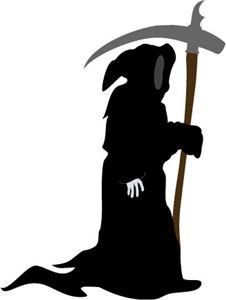 Grim reaper clipart silhouette - ClipartFest