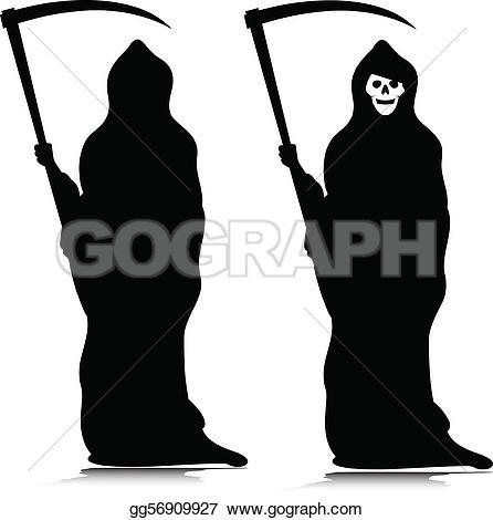 ... grim reaper vector silhouettes