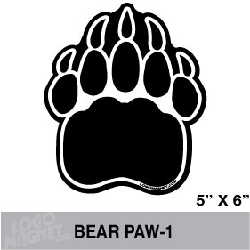 Grizzly Bear Paw Print Clipart .