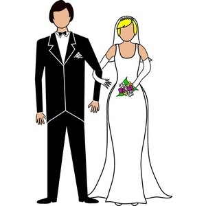 Bride and groom clipart black - Groom Clipart