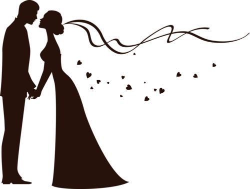 Bride and groom clipart free wedding graphics image