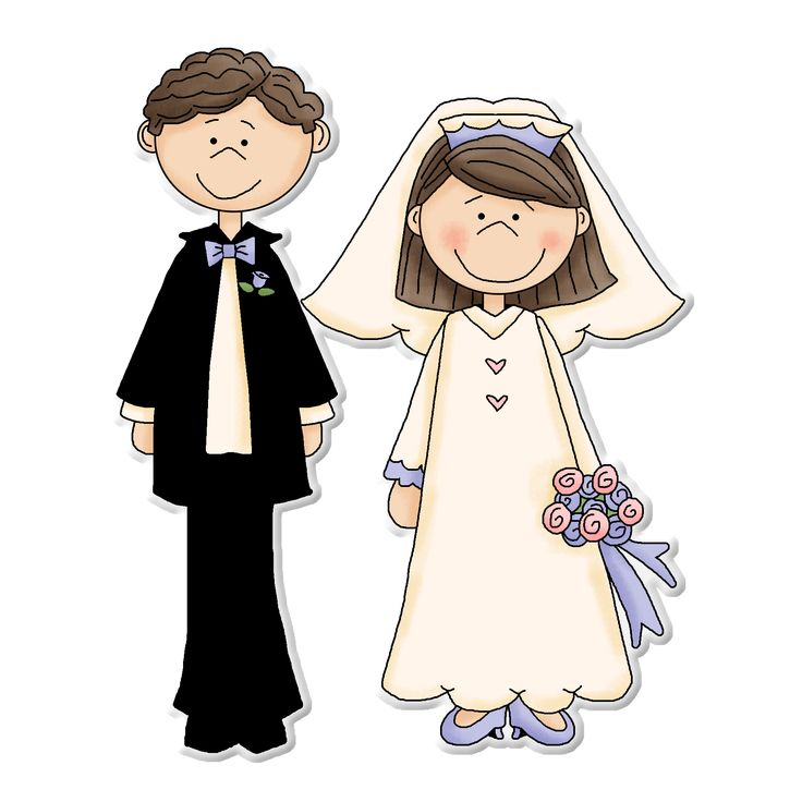 ღ Clipart ~ Bride U0026 Groom ღ