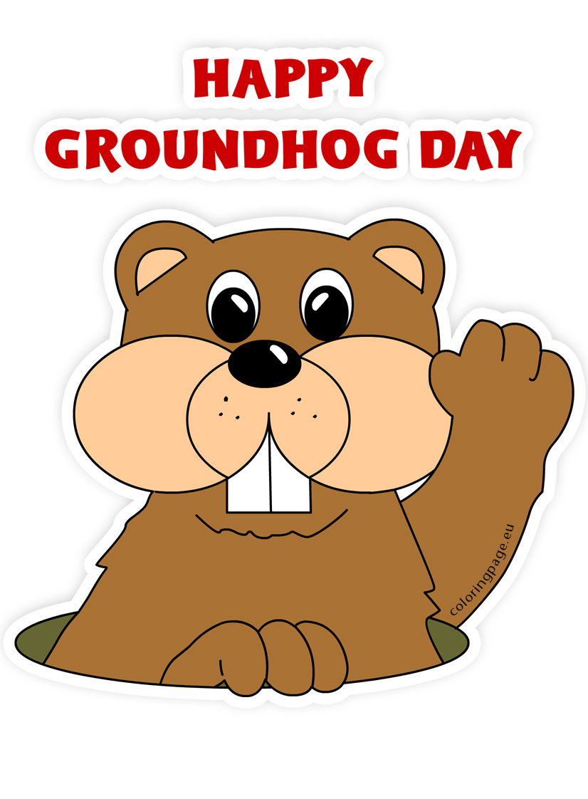 Groundhog cartoon clip art