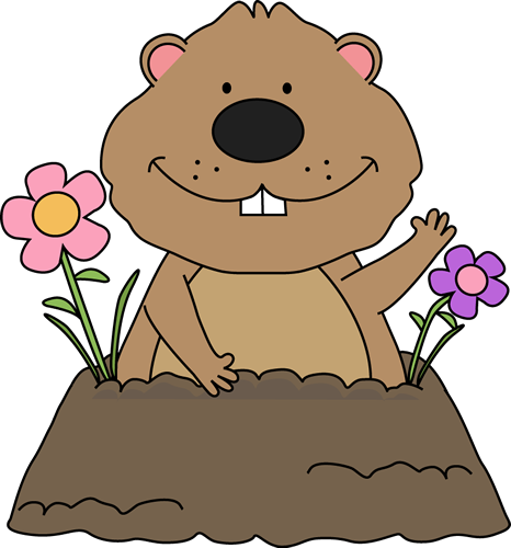Free Groundhog Clipart | Spring Groundhog Clip Art - Groundhog With Spring  Flowers Around Its .