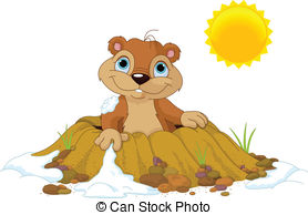 . hdclipartall.com Groundhog Day - Cute Groundhog popping out of a hole