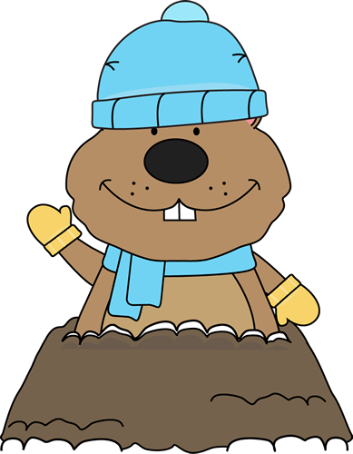 Winter Groundhog - Groundhog Clipart