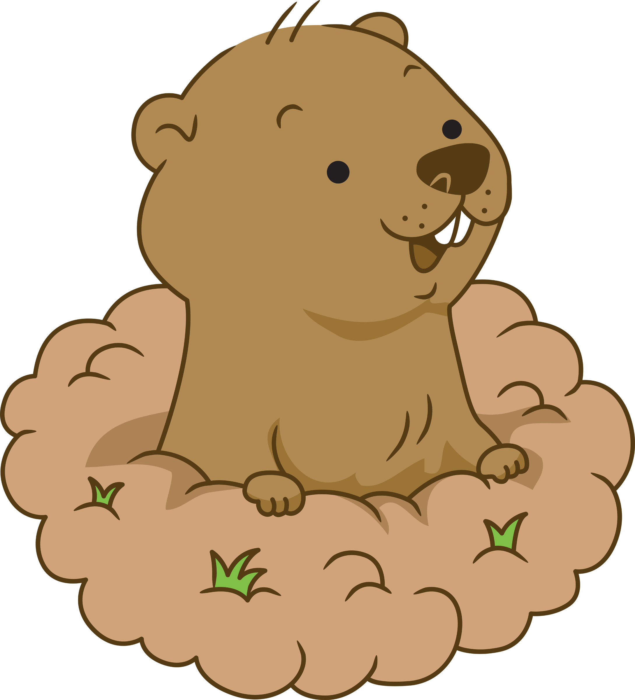 Groundhog day 5 clipart