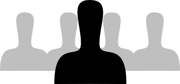Group People Silhouette Clip Art At Clker Com Vector Clip Art Online