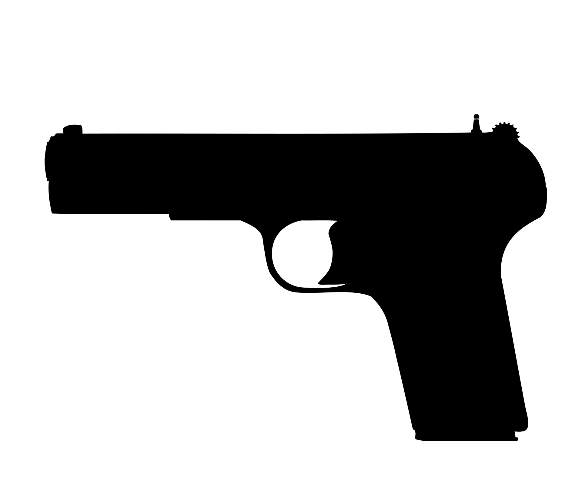 Gun, Pistol Clipart