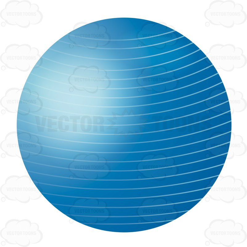 Blue Balance Or Exercise Ball