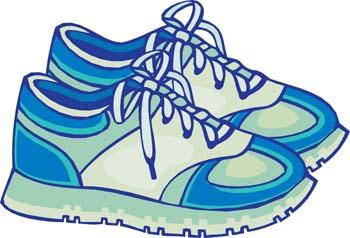 Gym shoe clipart