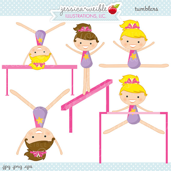 Cute Gymnastics Clipart #1