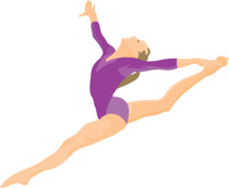 Performing gymnastics floor exercise Clipart Size: 78 Kb From: Gymnastics  Clipart