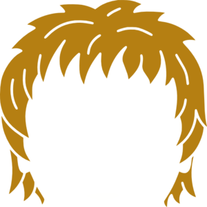 Hair clip art - vector .