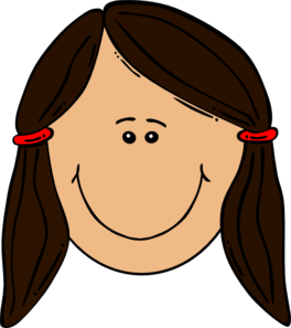 Girl Brown Hair Clip Art