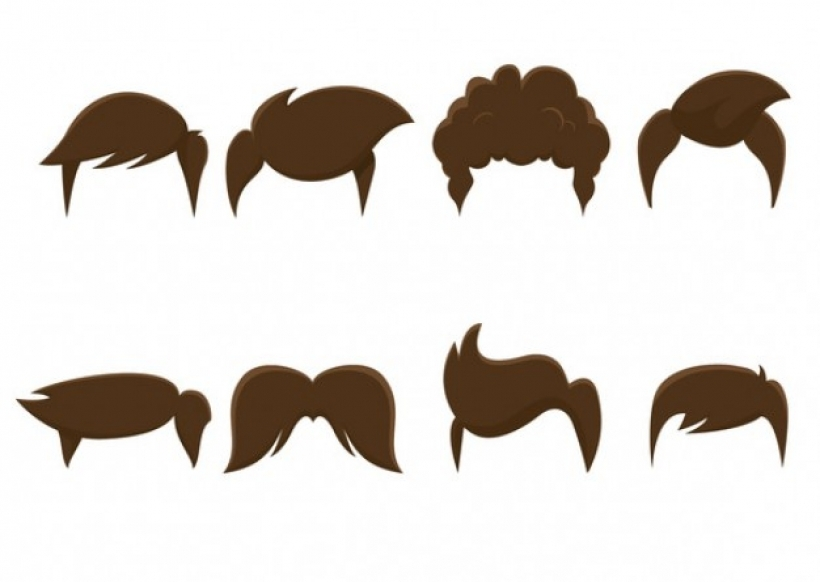 Male hair clipart vectors photos and psd