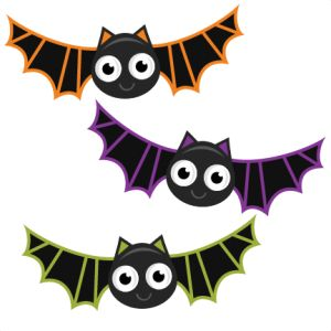 HALLOWEEN BAT CLIP ART. Halloween - Miss Kate Cuttables | Product Categories Scrapbooking SVG Files, Digital Scrapbooking, Cute
