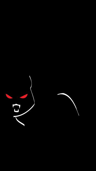Halloween Black Cat Clip Art . .
