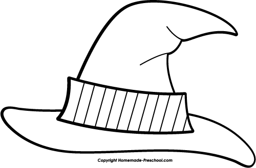 birthday hat clip art black and white