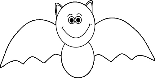 Black and white Halloween bat. | Halloween Clip Art | Clipart library