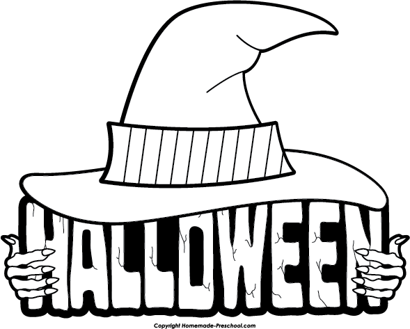 Halloween Clipart Black And W - Halloween Clipart Black And White