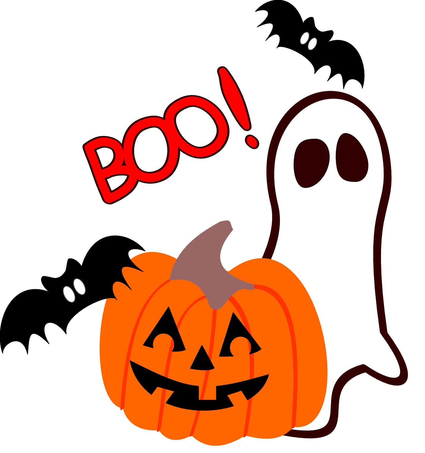 Boo Cute Halloween Clipart #1