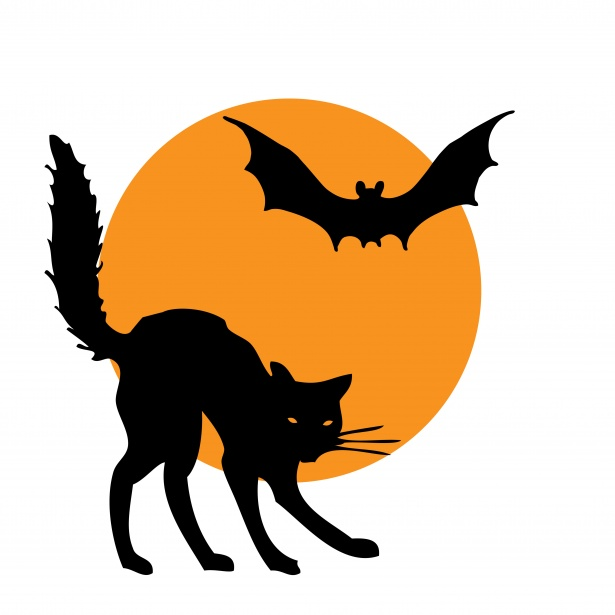 Halloween Clipart Cat Bat