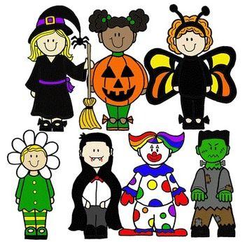 halloween costumes clip art   CLIP ART~ HALLOWEEN KIDS - TeachersPayTeachers clipartall.com