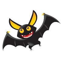 Halloween Funny Cartoon Bats Clip Art Images