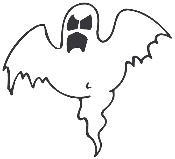 Halloween scary ghost clipart