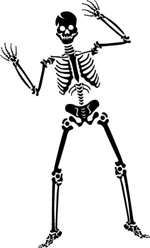 Halloween Spooky Skeleton Clip Art Graphic