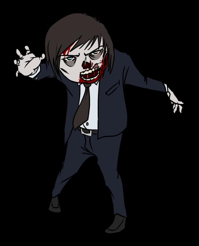 Halloween zombie clipart kid 2