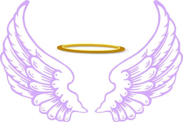 Angel Wings And Halo Clip Art clipart