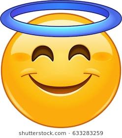 Smiling face with angel halo emoji emoticon