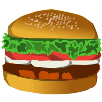 hamburger - Hamburger Clipart