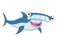 hammer head shark. Size: 54 Kb